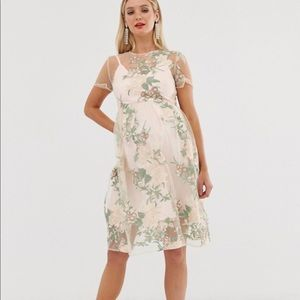 Chi Chi London Maternity embroidered floral dress